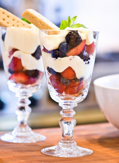 Lemon berry parfaits 4